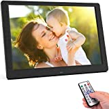 DIANOU 10.1 inch Digital Photo Frame 1080P High Resolution IPS Wide, Support USB and SD Card, Photo/Music video player, Calendar Alarm Auto On/Off Timer with Remote Control