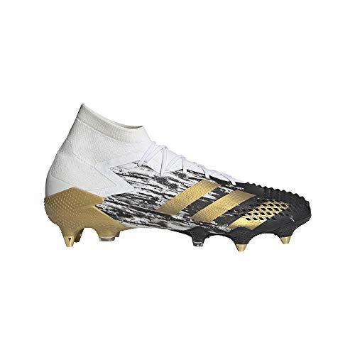 adidas Herren Predator MUTATOR 20.1 SG Fussballschuh, Ftwbla/Dormet/Negbás, 43 1/3 EU