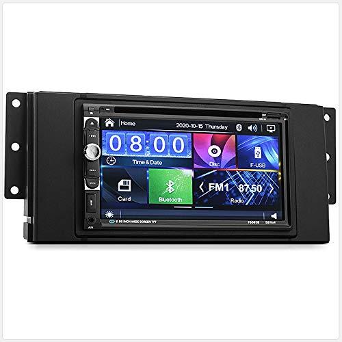 """Tunez - Stereo radio CD, lettore DVD ed Mp3 con schermo da 7"""", per Land Rover Discovery 3 eFreelander 2"""
