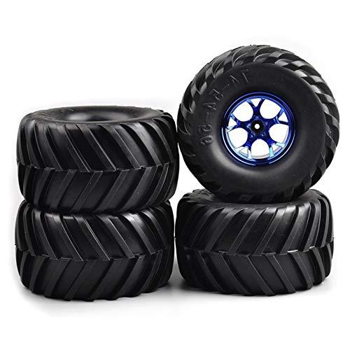 Conveniente neumático de coche Rc, 4pcs / neumáticos de goma Conjunto de ruedas llantas de diámetro 135 mm con 12 mm Hex Fit Escala 1:10 RC del coche camión Accesorios Modelo para modelo de coche