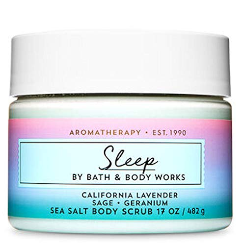 Bath and Body Works Body Care Aromatherapy Sea Salt Body Scrub 17 oz SLEEP - California Lavender Sage Geranium