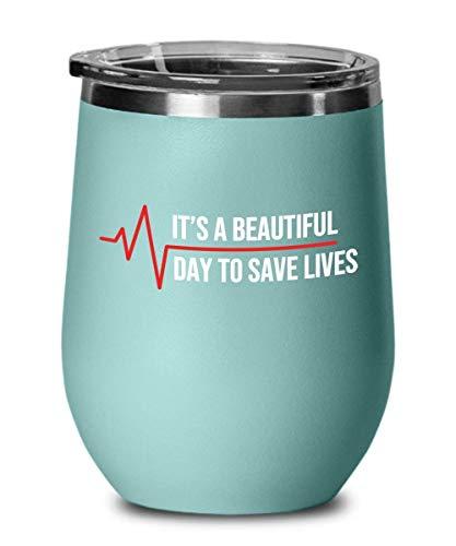 Vaso de vino con tapa de 355 ml, serie de TV Its A Beautiful Day American Medical Drama serie de televisión Greys Anatomyy Season única cita al vacío taza de viaje de acero inoxidable