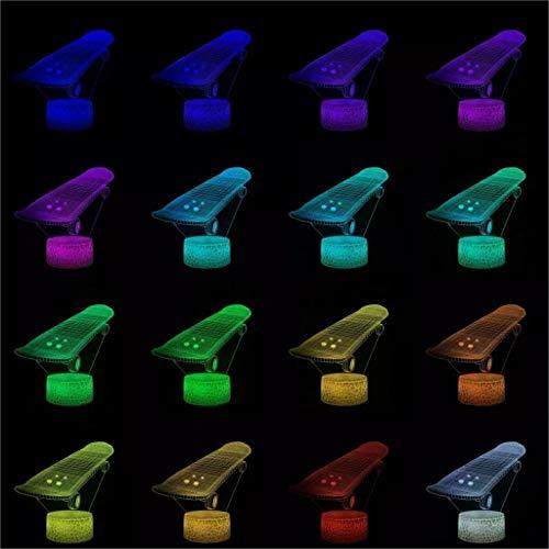Cool Scooter Skateboard 3D Light LED Acrílico USB Mood Night Light Multicolor...