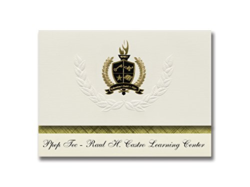 Signature Announcements Ppep Tec – Raul H. Castro Learning Center (Douglas, AZ) Abschluss-Ankündigung, Presidential Basic Pack 25 mit Gold & Schwarz Metallic Folie Siegel