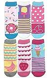 Jefferies Socks Mädchen Sweat Treats Ice Cream/Donuts Fashion Crew 6 Pair Pack Socken, Multi, Medium