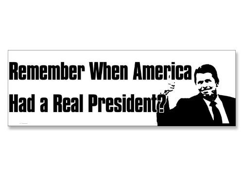 Reagan Remember When America Had a Real President Bumper Sticker (Conservative GOP)