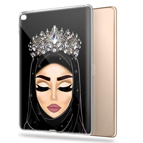 Pnakqil iPad Air 2 / iPad 6 Case Clear Silicone Gel TPU with Pattern Cute Transparent Rubber Shockproof Soft Ultra Thin Protective Back Case Skin Cover for Apple iPad Air 2 / iPad 6, Girls