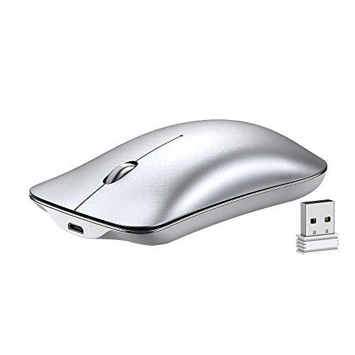 profesional ranking Mouse inalámbrico INPHIC, mouse inalámbrico recargable delgado de 2.4G con clic silencioso, mini mouse 1600DPI … elección