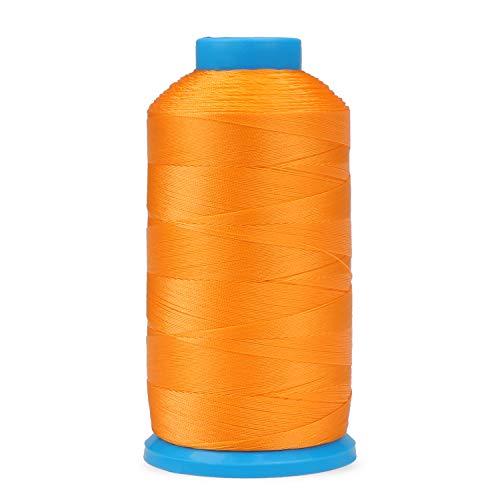 Fippy Hilo de coser resistente de nailon para overlocker de 1500 yardas de hilo de coser fuerte para exteriores, bolsas, zapatos, lona, máquina de coser costura a mano