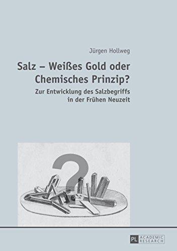 Salz Weißes Gold oder Chemisches Prinzip?: Zur Entwicklung des Salzbegriffs in der Frühen Neuzeit