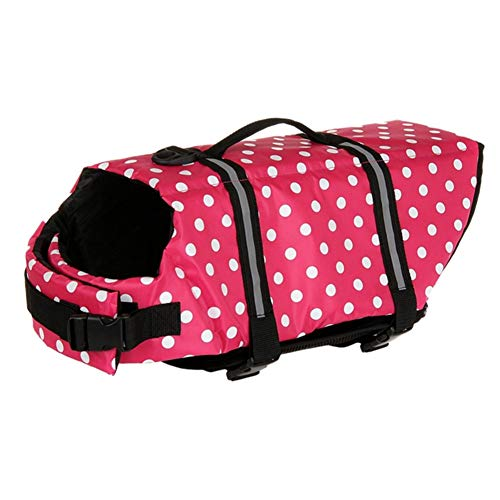 ZUOLUO Chaleco Perro Salvavidas Chalecos Salvavidas para Perros Perro de flotación Chaqueta Vida de Perro Chaleco Perro Chaqueta para la Vida Chaquetas Pink,XXL