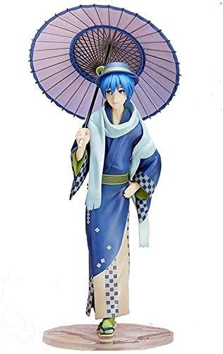 No Figura de Anime Estatuilla de Anime Estatua Miku Lynx Princesa Vocaloid Kaito Kaito Kimono Flor Color Vestidos Decoración de Mesa Material de PVC Adornos