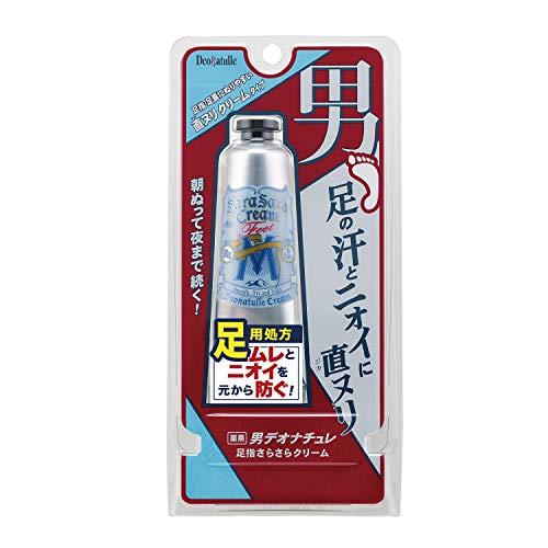 【医薬部外品】デオナチュレ 男足指さらさらクリーム 男性用 足用 直ヌリ 制汗剤 クリーム 1個