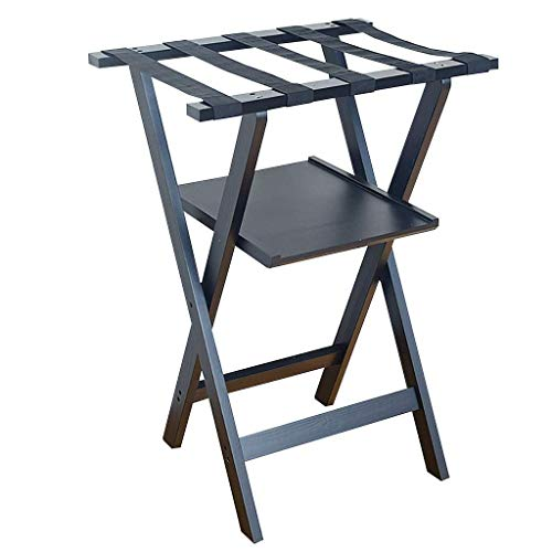 N/Z Home Equipment Luggage rack Luggage Rack With Shelf Hotel Room Foldable Solid Wood Suitcase Holder Luggage Rack Shelving Suitcase Backpack 60 * 45 * 83CM