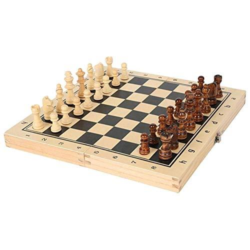 Juego de ajedrez Gran Ajedrez Conjunto De Madera Plegable Piezas Magnéticas Tablero De Madera Regalos De Cumpleaños Viajes Portátil Plegable Mesa De Ajedrez Juego De Juegos De Ajedrez Ajedrez de mader