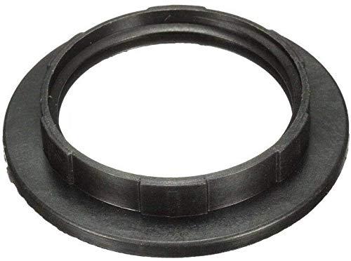 E27 Screw Lampshade Lamp Light Shade Collar Ring Adapter Black 2 Packs
