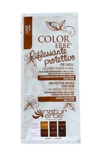 NATUR ERBE - RIFLESSANTE PROTETTIVO CAFFè 50 ML facile da applicare, copre i primi capelli bianchi