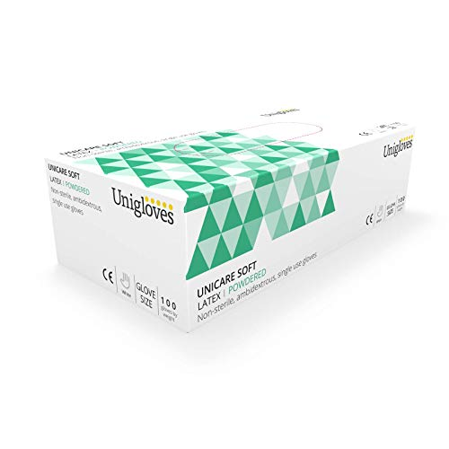 Unigloves ucsv1205/Suave Guantes de Vinilo sin Polvo Juego de 100 XL