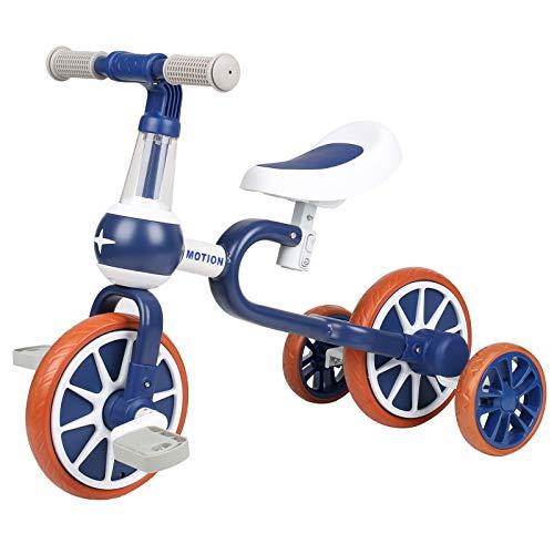 VOKUL Bicicleta de equilibrio 3 en 1 con pedales desmontables, triciclo/bicicleta para niños de 1 a 3 años, bicicleta de entrenamiento de 3 ruedas Trike regalo de primer cumpleaños