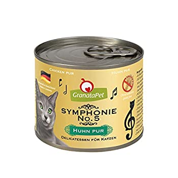 GranataPet Symphonie No. 5 - Nourriture pour Chat - sans céréales ni sucres - Filet en gelée Naturelle - Nourriture Humide délicate pour Chat - 6 x 200 g