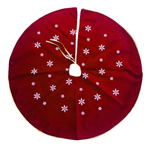 BESTOYARD Weihnachtsbaum Decke Rot für Weihnachtsbaum Deko 120cm