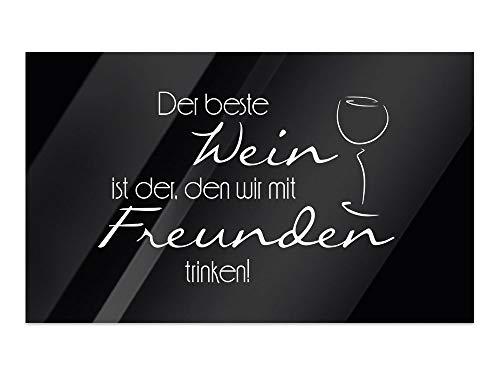 GRAZDesign Glasbilder Küche, Bilder Glas Bar, Wandbilder Glas Restaurant, Glas Bilder Schwarz / 60x40cm