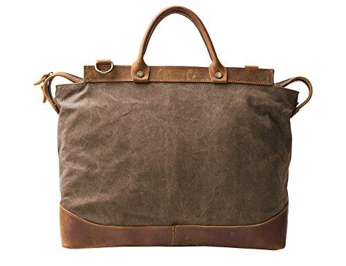 "ECOSUSI Tela Vera Pelle 14.7 "" Borsa a tracolla Cartella affari Handbag Messenger Laptop"