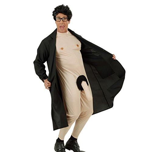 Nackter Mann mit Mantel Junggesellenabschied Nacktkostüm S 48 Exhibitionisten Verkleidung Männer Exhibitionist Kostüm Karnevalskostüme Erwachsene Lustiges Karnevalskostüm Herren JGA Ganzkörperkostüm