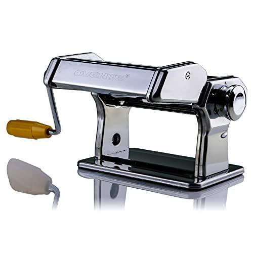 Ovente PA515S - Máquina para hacer pasta, acero inoxidable clásico, acabado chapado en cromo, Polished Chrome, 150 mm, 1