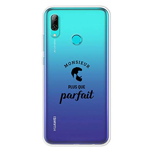 Zokko - Carcasa para Huawei PSMART 2019 con diseño de Monsieur Plus Que Parfait (Tinta Negra)
