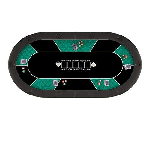 Tavolo da Poker Pieghevole Classico,Tavolo da Scacchi, Tavolo da Poker, Tavolo da Texas Hold'em, Tavolo da Scacchi Ovale, Tavolo da Gioco da Poker, Adatto per Intrattenimento/Festa