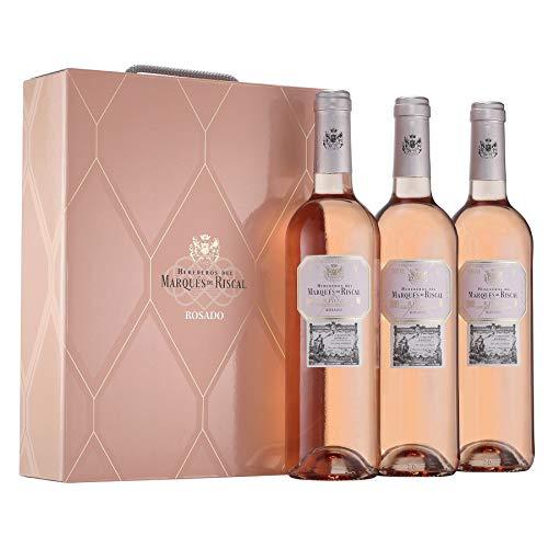 Marqués de Riscal - Vino Rosado Denominación de Origen Calificada Rioja - Estuche 3 botellas x 750 ml - Total 2250 ml