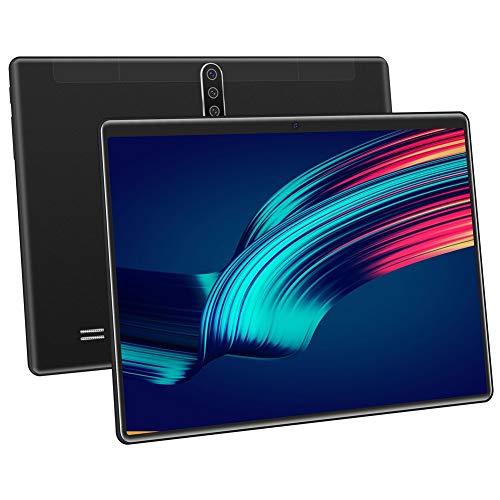 QQZQQ Tablet con Display da 10,1', WLAN, Bluetooth, con Tastiera, Custodia in Pelle, Pellicola Morbida, Il miglior Regalo for Genitori/Figli (Color : Black)