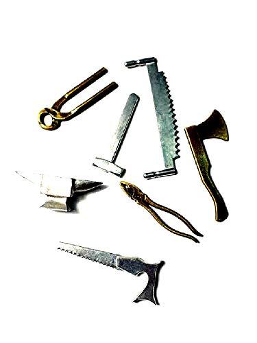 Juego herramientas cerrajero de metal para pastores 7,10cm belén ricevi un llavero...