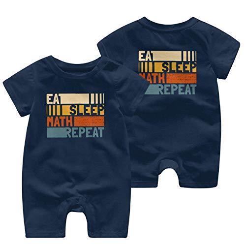 Eat Sleep Math Repeat Barboteuse à manches courtes 0-24 mois - - 12 mois