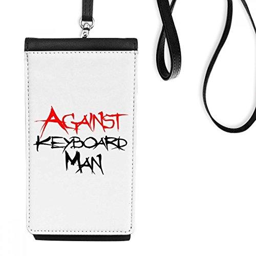 DIYthinker Tegen Toetsenbord Man Kunstleer Smartphone Hangende portemonnee Zwart Telefoon Portemonnee Gift