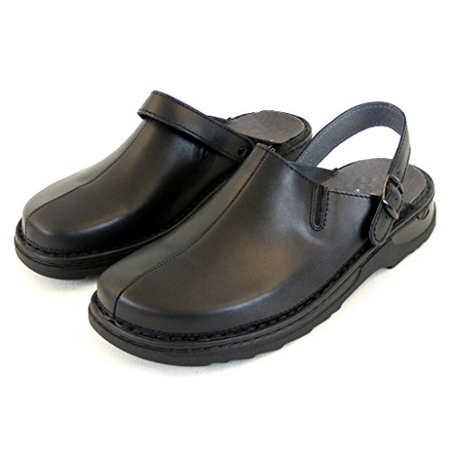 Stuppy Herren Schuhe Pantoletten/Clogs Leder schwarz 12765 Wechselfußbett, Größe:42