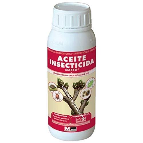 Suinga. Aceite INSECTICIDA JED 500cc. Actúa por Contacto, obtura los estigmas provocando la Muerte por Asfixia del Insecto o ácaro.