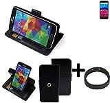 K-S-Trade® Case Schutz Hülle Für Archos Core 60S + Bumper Handyhülle Flipcase Smartphone Cover Handy Schutz Tasche Walletcase Schwarz (1x)