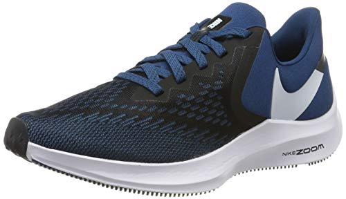 Nike Zoom Winflo 6, Zapatillas de Correr Hombre, Negro (Black/Topaz Mist/Blue Force/White 005), 48.5 EU