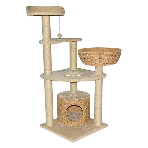 Cat Activity Trees Cat Play Tower Creative Multi-Level Cat Climbing Frame Heavy Sisal Cat Climbing Frame Cat Scratching Column Cat Tree Scratching Activity Center Cat Cave Cat House