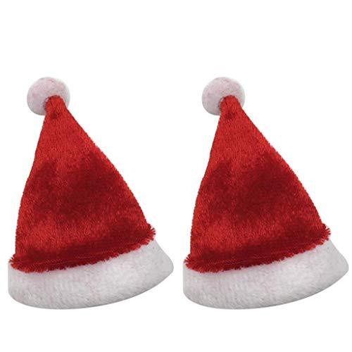 dailymall 2pcs 1/6 Gorra de Sombrero de Navidad para Muñeco de Juguete con de Acción Masculina / Femenina de 12 Pulgadas