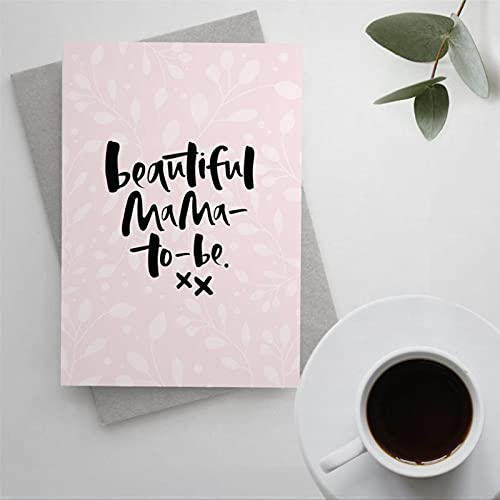 Pregnancy Greeting Card with Envelope Baby Shower Blank Card Expectant Mum Card Mum To Be Card Beautiful Mama To Be Card