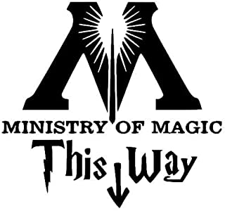 Wheeler3Designs Ministry of Magic Vinyl Decal (Black, 10