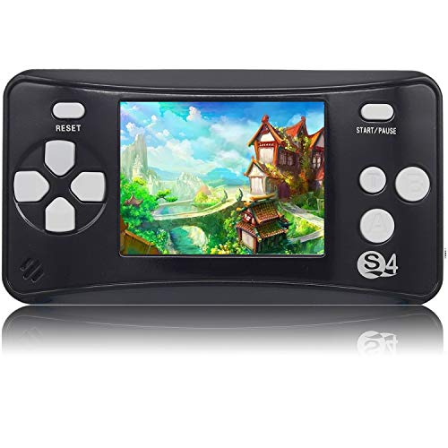 QoolPart Handheld Games for Kids Adults 2.5'' Color Screen Preloaded 182 Classic Retro Video Games No WiFi Needed Seniors Electronic Game Player Birthday Xmas Present (Black)