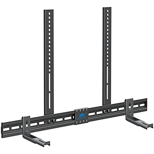 Mounting Dream Soundbar Mount for Most Soundbars with Holes/Without Holes up to 13lbs, Sound Bar...