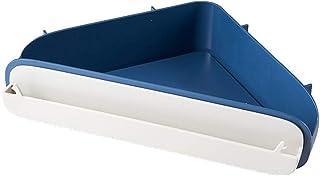 収納ボックス パンチフリーバスルームトイレラックキッチンシェルフバスルームクリエイティブシェルフバスルームシェルフバスルームトイレウォールハンギングラック洗面台洗面所三角形ストレージラックフリーパンチング (Color : 濃紺)