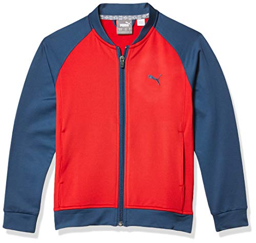 PUMA Golf 2019 Boy's Full Zip Jacket, Barbados Cherry, Large