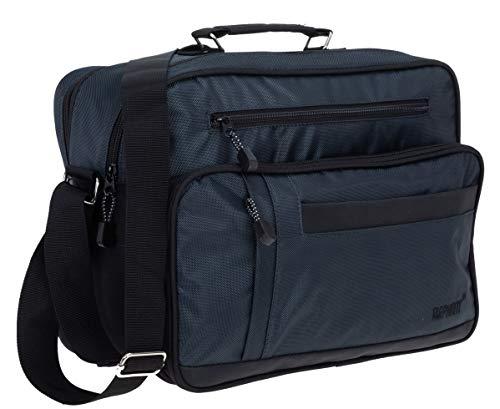 Elephant Flugumhänger Mailand Arbeitstasche Reisetasche Tasche Herren Damen Querformat 3714 + Etui (Blau)