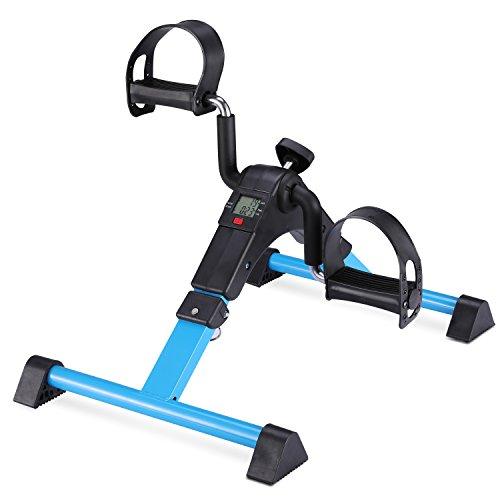 MEMEDA Pedaliera Cyclette Mini Bike per Riabilitazione di Gambe con Monitor LCD